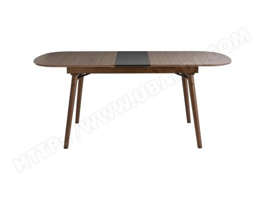 miliboo table a manger extensible noyer l150 180 cm sheldon ma 78ca492tabl 8ku0o