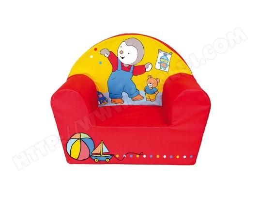 cijep fauteuil club imprime pour enfant t choupi couleur rouge et jaune ma 78ca456faut 65tcl