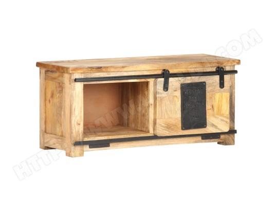 vidaxl vidaxl meuble tv 90x35x40 cm bois massif de manguier 321570