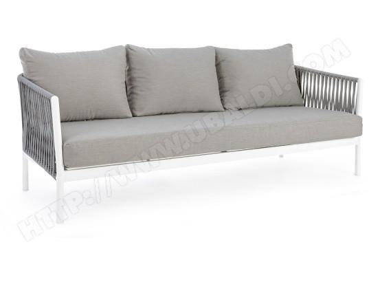 bizzotto canape de jardin florencia 3 places blanc
