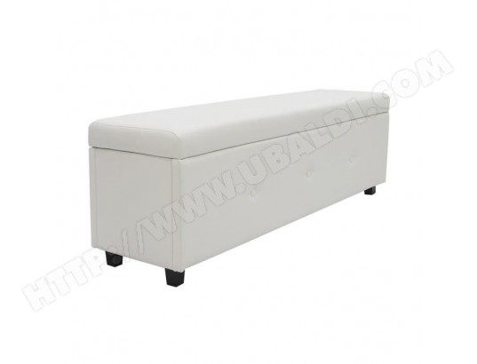 tbd banc coffre bout de lit simili blanc classique l 140 cm ma 15ca916banc l8rd0