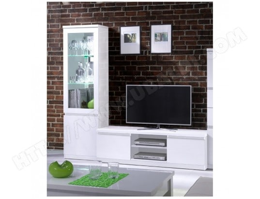 price factory ensemble pour votre salon fabio meuble tv hifi vitrine petit modele led meubles design haute brillance ma 76ca182ense cz4sr