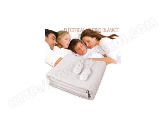 couverture chauffante lit double electrical heating blanket 160 x 140 cm dealstore ma 44ca144couv
