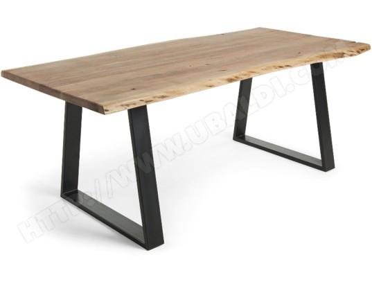 lf table de salle a manger sono 160 x 90 acacia massif et metal