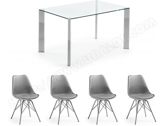 lf ensemble table et chaises ensemble corner transparent chaises lars