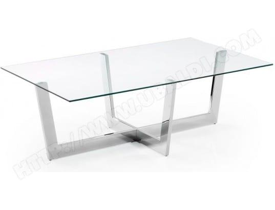 lf table basse plum verre transparent 120x70 cm