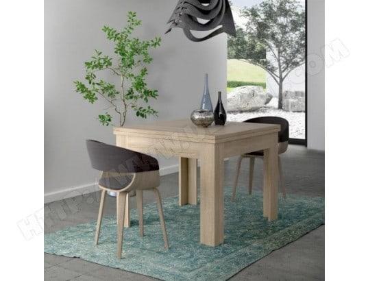 finlandek finlandek table a manger extensible nuori 6 a 8 personnes style contemporain decor chene clair l 96 190 x l 95 cm ma 49ca492finl rwww1
