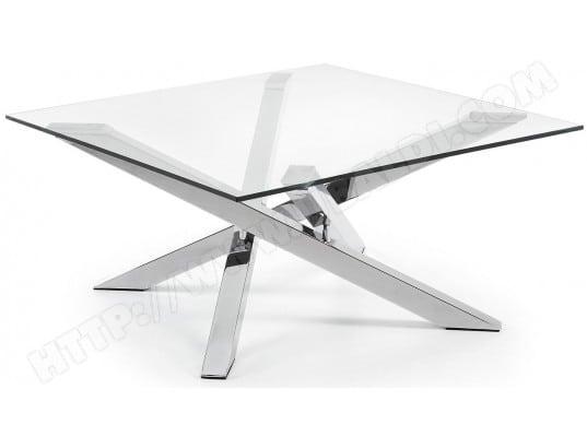 lf table basse mikado table basse verre et acier chrome