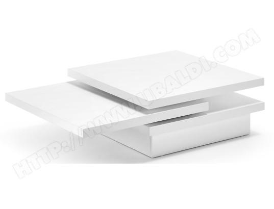 lf table basse yuki 3 plateaux laque blanc mat 106 x 70 cm