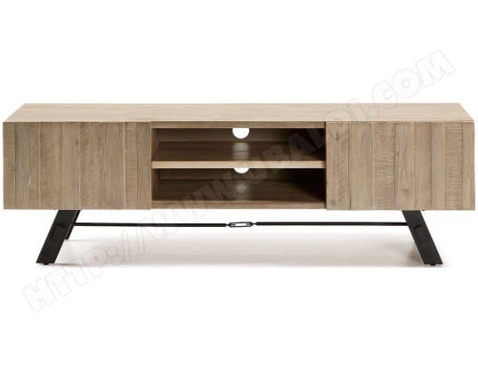 lf meuble tv vita bois et metal 160 cm