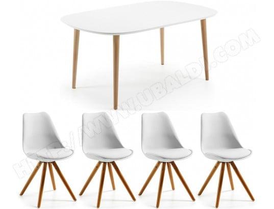 lf ensemble table et chaises table oakland extensible 4 chaises lars