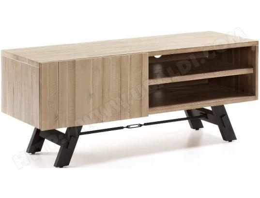 meuble tv lf vita bois et metal 120cm