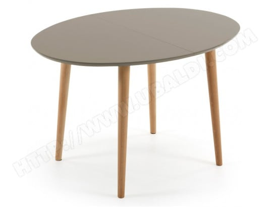 lf table de salle a manger oakland ovale 120 200x90cm taupe bois
