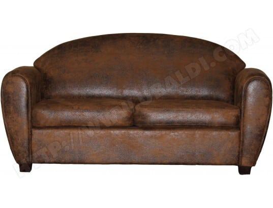 ub design canape tissu werner 3 places fixe brun