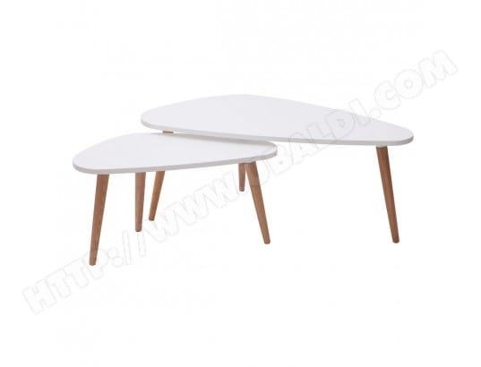 miliboo tables basses gigognes scandinaves blanches et bois clair lot de 2 artik ma 78ca182tabl 19rqs