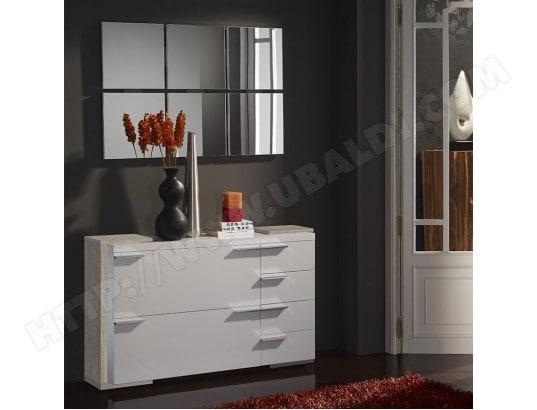 nouvomeuble meuble chaussures et miroir moderne blanc couleur bois clair arucas 2 ma 82ca604meub ajhzj