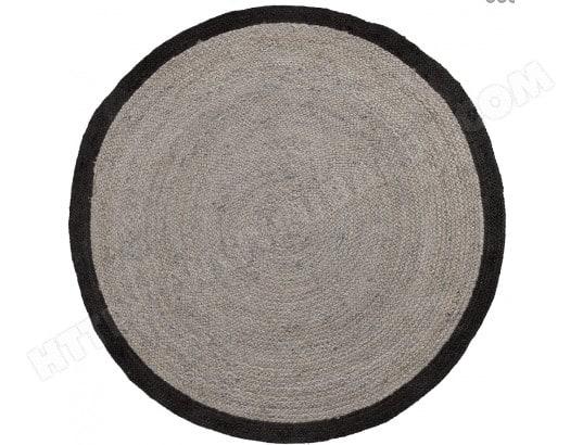 lf tapis samy gris et noir diametre 200 cm