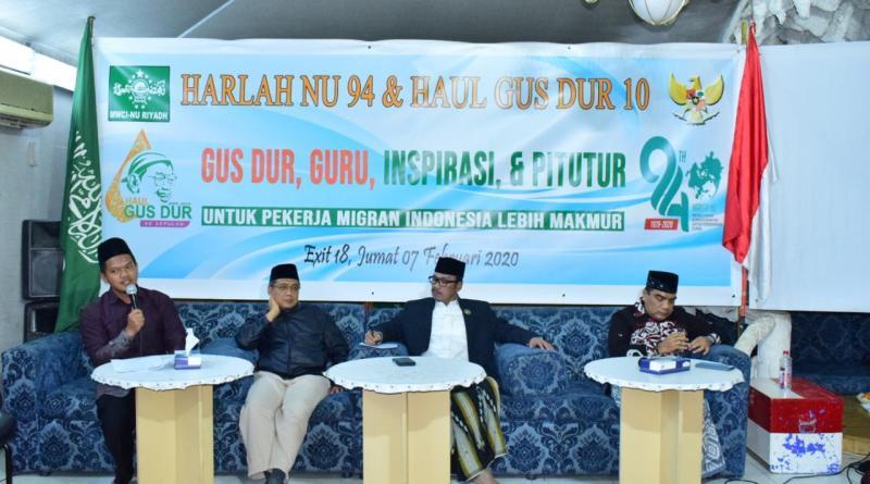 MWCI NU Riyadh adakan Seminar Kebangsaan Gus Dur Dalam Rangka Harlah NU ke-94 dan Haul Gus Dur Ke-10 media santri NU