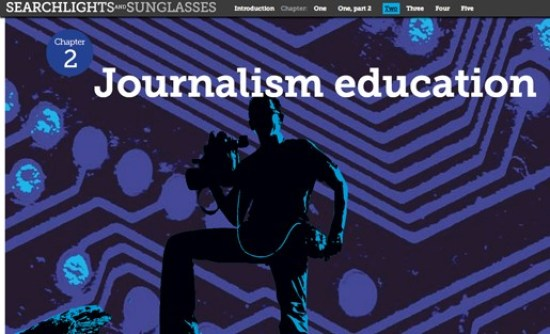 Searchlights and Sunglasses covered journalism education through an experimental digital approach, including a learning layer of resources and activities.