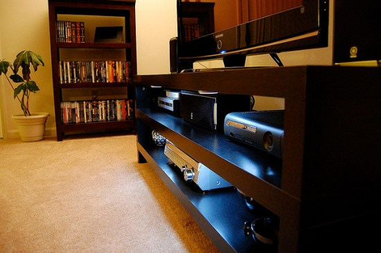 Photo of home theater by Matthew Rogers and used here with Creative Commons license.