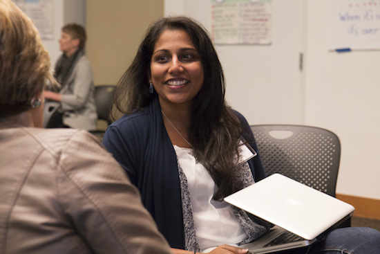 Sheetal Agarwal participates in a discussion at Experience Engagement. Photo by Emmalee McDonald.