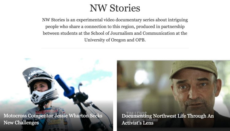Madison's current project with his students, which uses multiple media to tell stories about the Pacific Northwest.