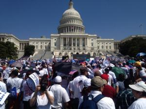 Immigration activists on Capitol Hill
