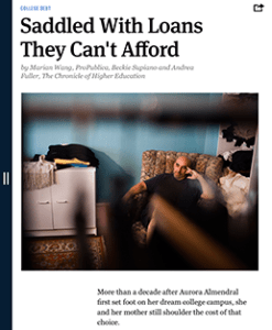 """One of the articles in ProPublica's July 2013 """"Dream Denied"""" issue."""