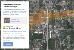NPR illustrates the May 2013 tornado damage in Moore, Okla.