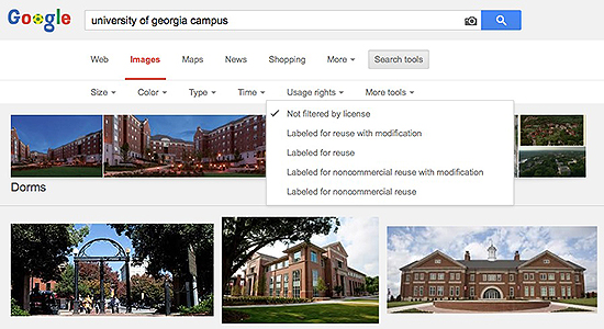 Google's image search also has a filter for usage rights.