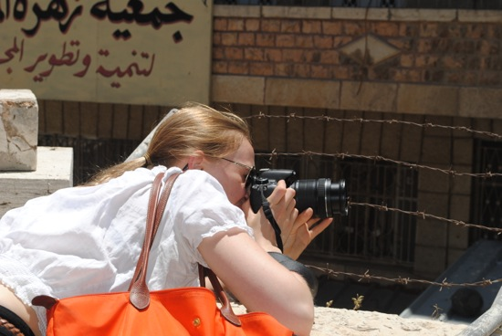ieiMedia students like Annie Bergeron-Oliver of the Jerusalem 2013 program spend a month working as foreign correspondents. Photo by Rachele Kanigel