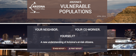 One recent project to come out of ASU's Media Innovation Lab is a site visualizing what it means to be an at-risk citizen living in Arizona.