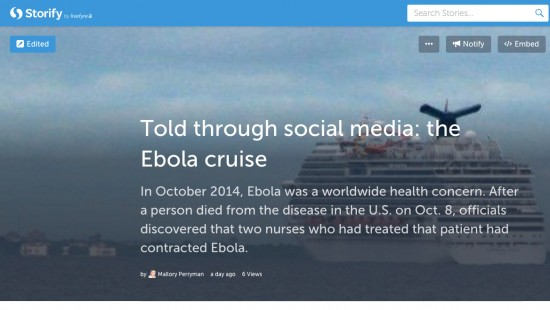Storify the day's big story to compare coverage on social media.