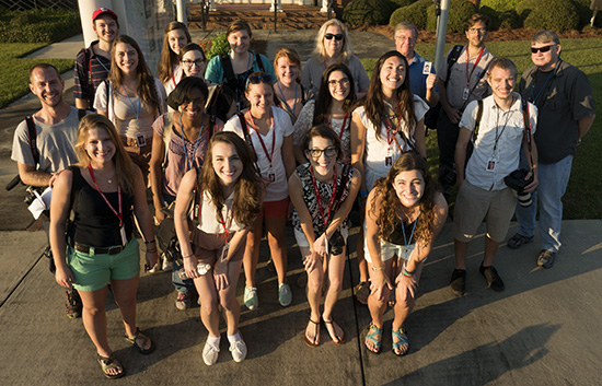 Fifteen students and six pros at the start of a 16 hour long day at the Georgia National Fair. (Photo/Mark E. Johnson)