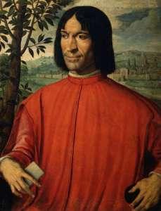 Lorenzo de' Medici, the original Patron Painting by Girolamo Macchietti. Public domain.