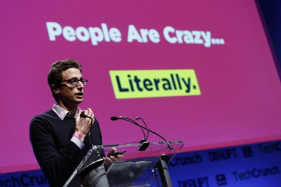 Jonah Peretti of BuzzFeed speaks onstage at the TechCrunch Disrupt NY 2013 at The Manhattan Center on April 29, 2013 in New York City. Photo by Brian Ach/Getty Images for TechCrunch and used here with Creative Commons license.