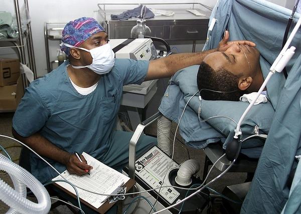 locum tenens physician at work