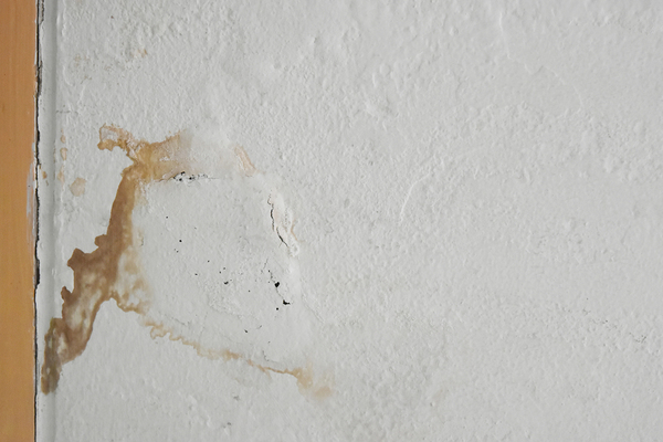 Wall with water damage