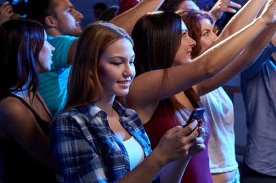 Image result for texting in the crowd