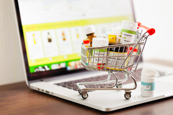 Miniature shopping cart.