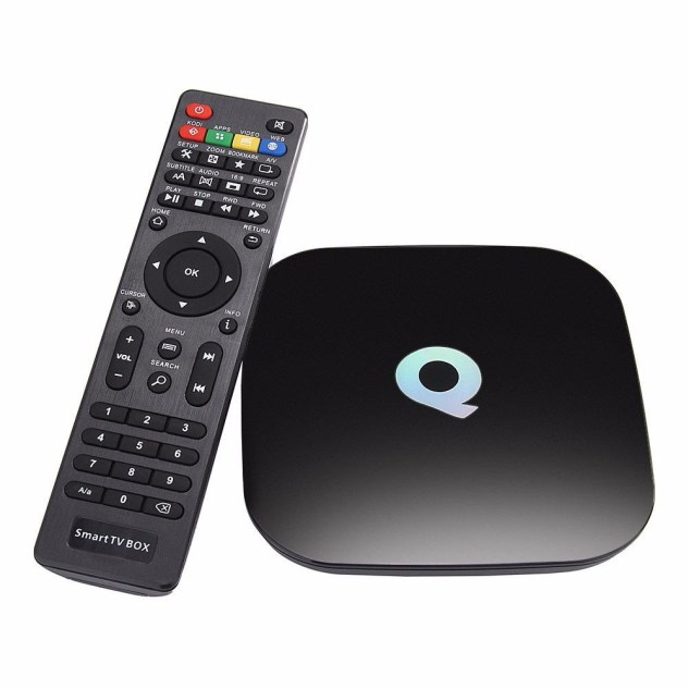 The MediaStax Q-Box and remote