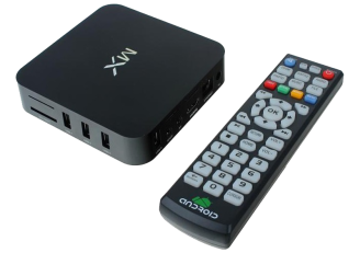 The MediaStax MX box and remote