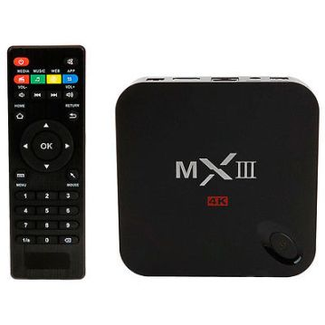 The MediaStax MXIII box and remote