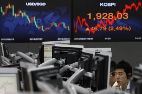 Bursa Asia Memerah Dipicu Ketegangan Hongkong