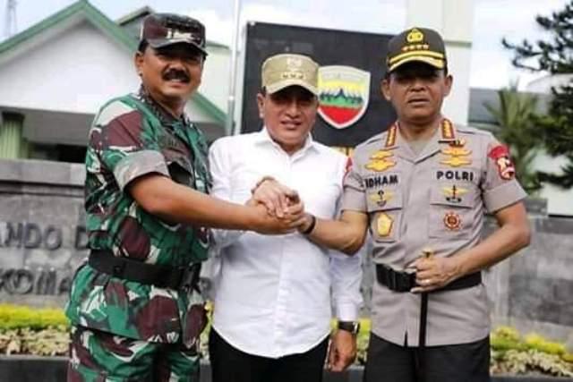 Kapolri dan Panglima TNI Pimpin Apel Nataru di Medan
