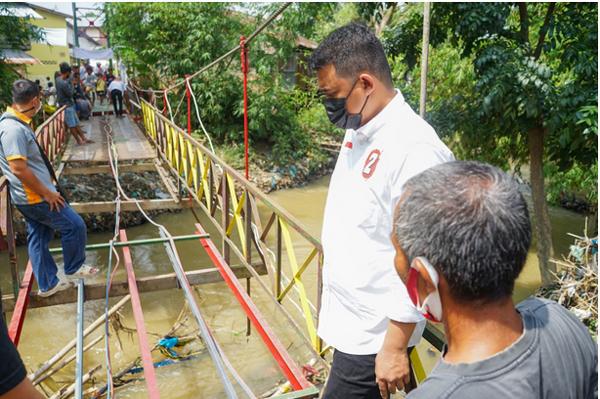 Warga Berharap Bobby Nasution Perjuangkan Infrastruktur Jembatan Rusak di Polonia