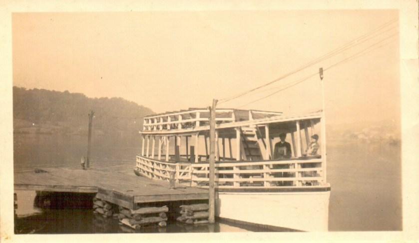 """John Thomas Wescott's boat- """"The Cherokee"""""""