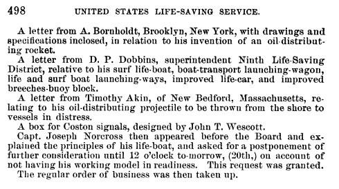 John T. Wescott designs Coston Signals Box