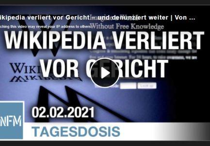 Wikipedia verliert vor Gericht – und denunziert weiter   Von Dirk Pohlmann