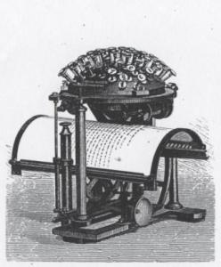 Figure 1: Malling-Hansen Writing Ball, ca. 1878